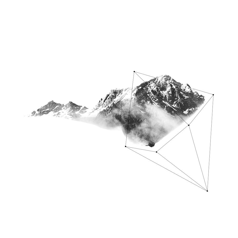 Doppia Esposizione montagne e geometrie
