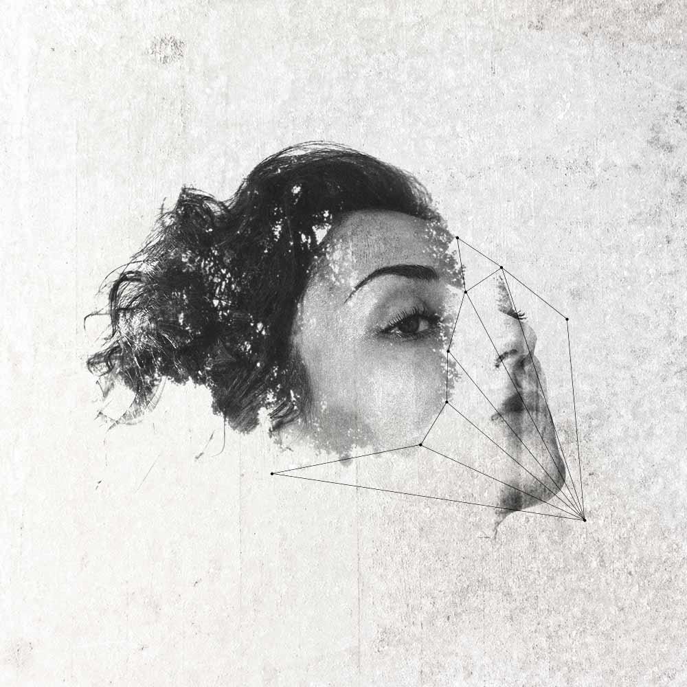 Doppia Esposizione ritratto e geometrie